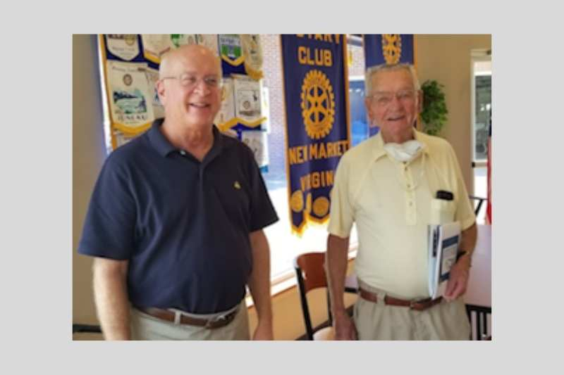 Michael Funk speaks to New Market Rotary